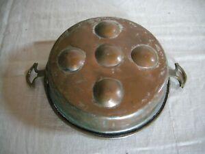 (2) -antico stampo in rame da cucina