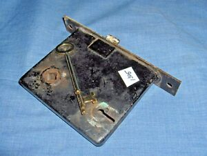 #1305 - VINTAGE/ANTIQUE MORTISE DOOR LOCK ASSEMBLY - SKELETON KEY TYPE