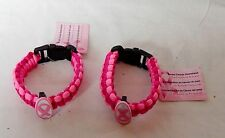Breast Cancer Awareness Parachute Bracelets Light and Dark Pink 2ea 6Q