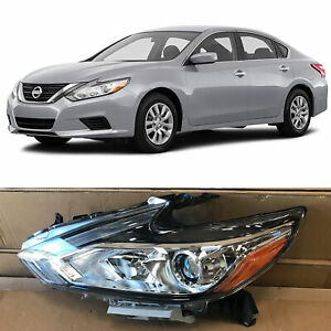 Headlight Replacement for 2016 2018 Nissan Altima Halogen w/o LED Left Driver
