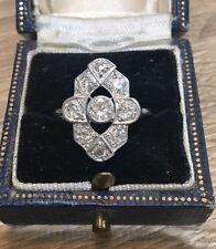 18CT DIAMOND ART DECO  RING