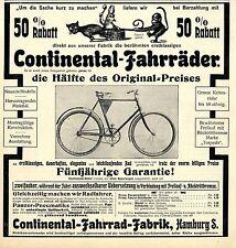 Continental-Fahrrad-Fabrik Hamburg * Große Bild-Annonce von 1905