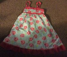 Penelope Mack girl's size 4 Super Cute Floral Lined sleeveless dress Adorable!