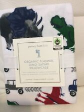 Pottery Barn Kids Organic Flannel Dino Safari Standard Pillowcase NWT