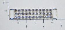 Crystal RhinestoneTrim -3 Row Czech Crystal Rhinestone Chain Connector #2002