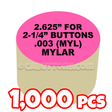 "2-1/4"" Tecre Mylars Clear Plastic Cover for Button Maker Machine Press 1000 pcs"