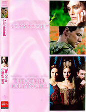 Atonement + The Other Boleyn Girl (MA & M, DVD, 2-Disc Set) Ships Quick!