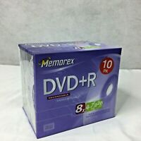 Memorex DVD-R Rewritable 10 Pk Sealed 4.7GB  120Min 8X NEW Music Recording