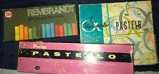 Lot Of Vintage Artist Pastels Original Packages Pastello Alphacolor Rembrandt