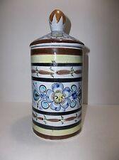 "Vintage TONALA Mexican Folk Art  Pottery CANISTER Jar 9.75"""