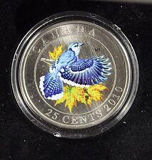 **2010**Blue Jay Colour, $.25 Cent Coin