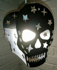The BEDROOM SUGAR SKULL STARS lampshade light shade GIRLS BOYS TEENAGE BLACK
