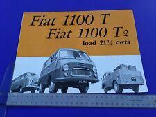 Fiat 1100 T Van Brochure c1959 - UK Issue Edition No. 1498 - Rare