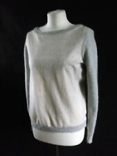 fab nylon alpaca and wool MINT VELVET grey sparkle front cardigan jumper 10 12