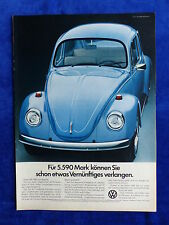 VW Käfer 1200 - Werbeanzeige Reklame Advertisement 1973 __ (670