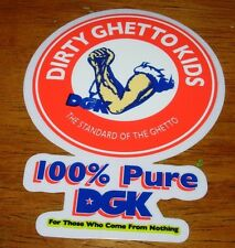 DGK Logo Skate Sticker 100% Pure Dirty Ghetto Kids skateboards helmets decal