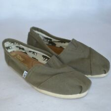 Toms Green Canvas Original Classic Loafers Shoes Womens 6.5 Ballet Flats Slip On