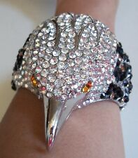 Bird Dressy Fashion Silver Finish With Rhinestone Party Wear Lady's Bracelet