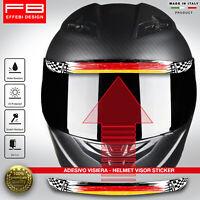 Adesivo Sticker Casco Visiera Helmet Visor Germany Nurburgring Auto Moto Gp F1