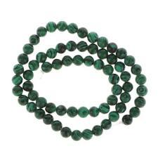 """Perles De Malachite Rondes 6mm Pierre Gemme En Vrac 15.5"""" Vert"""