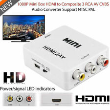 1080P HDMI to AV RCA Adapter CVBS Composite Audio Video Converter For PC Laptop