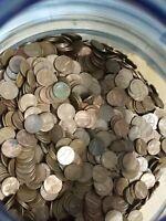 3 Bags=$75 FV 7,500 Circulated 95/% Copper Pennies 1959-1982 50LBS Bulk Bullion