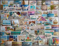 Boats & Ships on stamps-100 Different Large-World Wide Thematic Used Stamps-