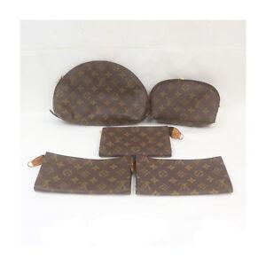 Louis Vuitton Monogram Cosmetic Pouch 5 pieces set 525575