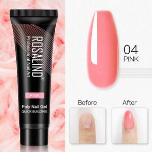 Poly Nail Extension Gel 15ml 80 colors UV Semi Permanent Builder Nail Art Gel