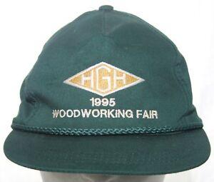 Vintage HGH 1995 Woodworking Fair Strapback Cap HGH Hardware Supply Green Hat