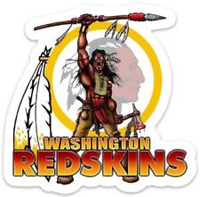 Washington Redskins w/ Indian Chief Warrior NFL Mascot Die-Cut MAGNET