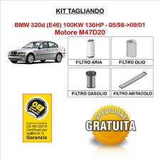 KIT TAGLIANDO 4 FILTRI TECNECO BMW 320d E46 100KW 136HP - 05/98->09/01