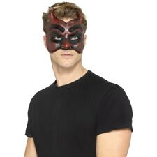 Mascarade Diable Rouge Masque Latex Adultes Déguisement Halloween