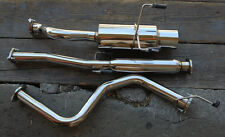 """Honda Civic 96-00 3dr HB Stainless Rear 4"""" Tip Cat Back Exhaust System Bolt On"""