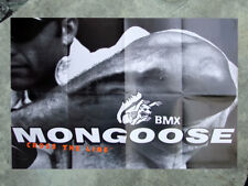 1998 Collectable Mongoose. Bmx bicycle poster, printed 2 sides new bicycles