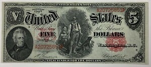 1907 $5 Wood Chopper Large Note Legal Tender