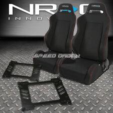 NRG 2 TYPE-R RED STITCHES  RACING SEATS+BRACKET FOR 92-95 HONDA CIVIC EG/EJ1/EH