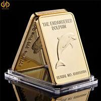 DOLPHIN FLIPPER***24K 999 FINE GOLD CLAD SPECIAL OFFER BID DOLPHIN FLIPPER