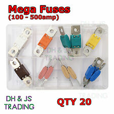 Assorted Box of Mega Fuses Qty 20 Fuse 100 125 150 175 200 225 250 500