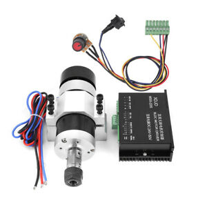 ER16 DC 48V 500W High Speed Air Cooling Brushless Spindle Motor + Driver + Clamp