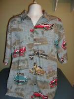 David Carey Mustangs Shirt XL 60's Classic Ford  Hawaiian Originals Camp