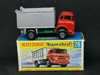 Matchbox MB26-A1 Superfast - GMC Tipper Truck in Type G Box