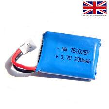 3.7V 200mAh LiPo 1S 20C Polymer Battery: Syma X4 X5 X11 X13 RC Drone - 752025
