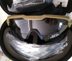 Oakley SI Ballistic M Frame Alpha - Terrain Tan w/ Gray, Clear Lens (OO9296)!😀