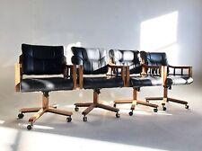 Vintage Naugahyde Faux Leather Dining Modern Chair Office Swivel Clam Baughman