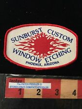 Vtg Advertising SUNBURST CUSTOM WINDOW EDGING ~ PHOENIX ARIZONA PATCH 63G2