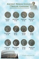 TWELVE CAESARS ROMAN COIN TOKENS