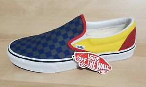 VANS Classic Slip On OTW Rally Size 10.5 Navy Yellow Old Skool Sneakers