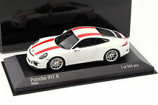 Porsche 911 (991) R Baujahr 2016 weiß / rot 1:43 Minichamps