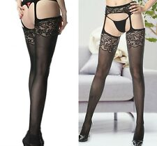 New Ladies Styles Fishnet Crotchless Suspender Stockings Tights Garter Belt 8-14